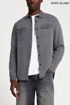 River Island Grey Western Shirt