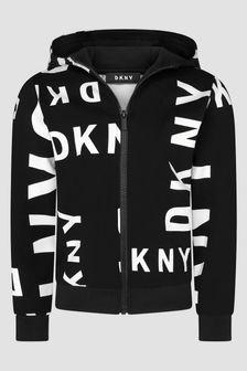 DKNY Black Sweat Top