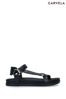Carvela Black Block Sandals