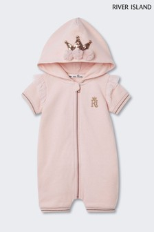 River Island Pink Crown All-In-One