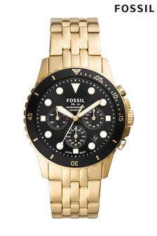 Fossil FB01 Gold Chronograph Watch
