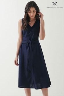 Crew Clothing Company Sleeveless Tie Front Dress