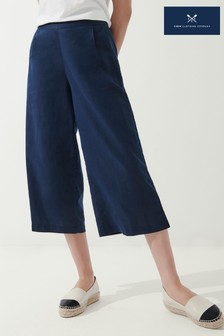 Crew Clothing Company Kate Linen Culottes