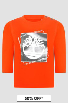 Timberland Baby Boys Orange T-Shirt