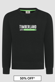 Timberland Kids Black Sweat Top