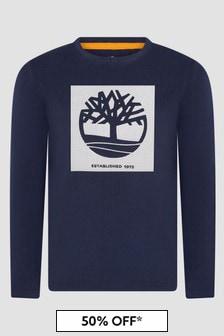 Timberland Boys Navy T-Shirt