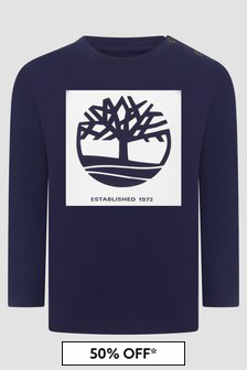 Timberland Baby Boys Navy T-Shirt