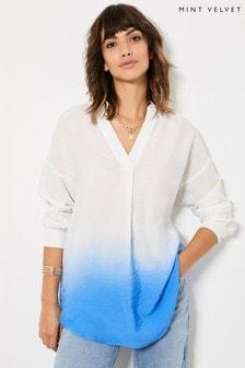 Mint Velvet Blue Ombre Oversized Shirt