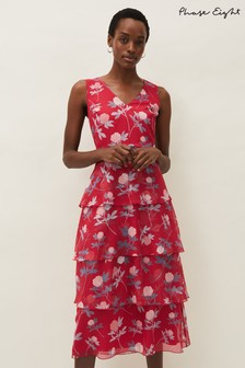 Phase Eight Pink Antonella Floral Tiered Dress