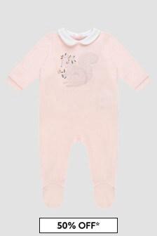 Carrement Beau Baby Girls Pink Babygrow