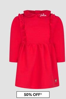 Carrement Beau Baby Girls Red Dress