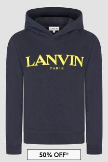 Lanvin Boys Navy Hoodie
