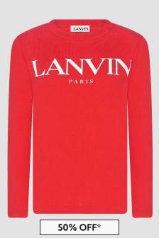 Lanvin Boys Red T-Shirt