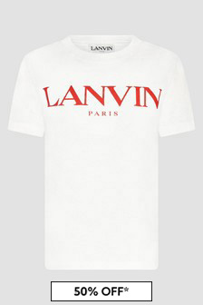 Lanvin Boys Ivory T-Shirt