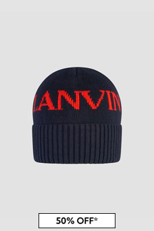 Lanvin Boys Navy Hat