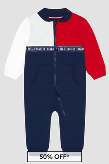 Tommy Hilfiger Baby Boys Navy Rompersuit
