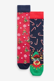 Christmas 2 Pack Socks