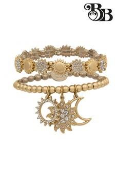 Bibi Bijoux Gold Sun & Moon Double Row Bracelet