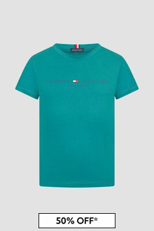 Tommy Hilfiger Boys Teal T-Shirt