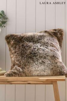 Chocolate Brown Hexham Faux Fur Cushion
