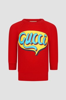 GUCCI Kids Baby Red Sweat Top