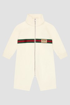 GUCCI Kids White Rompersuit