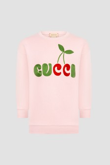 GUCCI Kids Girls Pink Dress