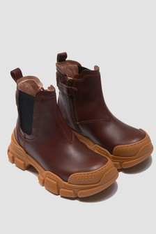 GUCCI Kids Brown Boots