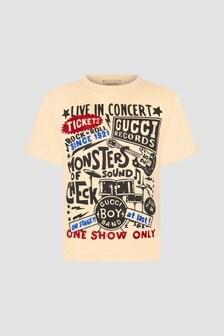 GUCCI Kids Cream T-Shirt