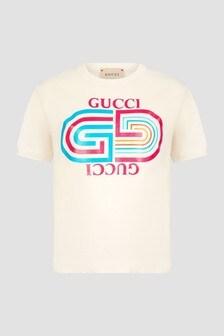 GUCCI Kids Unisex White T-Shirt