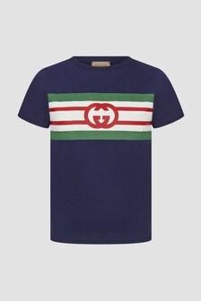 GUCCI Kids Navy T-Shirt