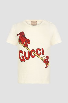 GUCCI Kids Baby White T-Shirt