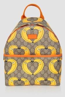 GUCCI Kids Beige Backpack