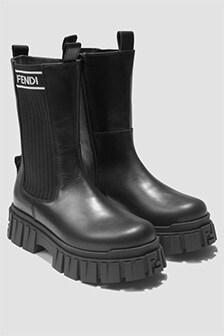 Fendi Kids Girls Black Boots
