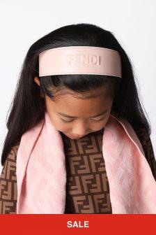 Fendi Kids Girls Pink Hairband