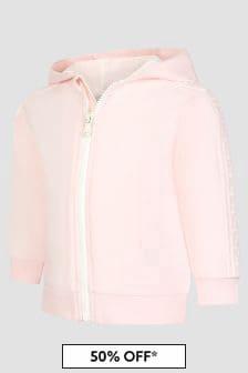 Fendi Kids Pink Sweat Top
