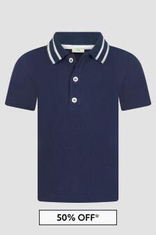Fendi Kids Baby Boys Navy Polo Shirt