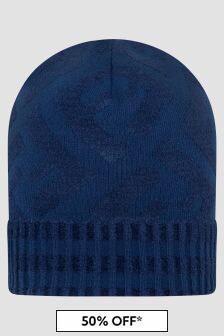 Fendi Kids Navy Hat
