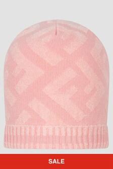 Fendi Kids Girls Pink Hat