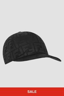 Fendi Kids Black Hat