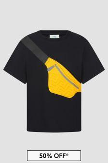 Fendi Kids Boys Black T-Shirt