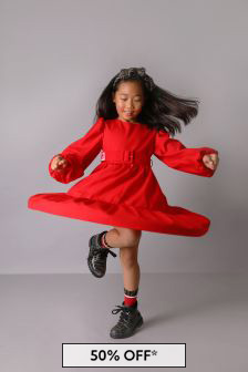 Fendi Kids Girls Red Dress