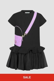 Fendi Kids Girls Black Dress