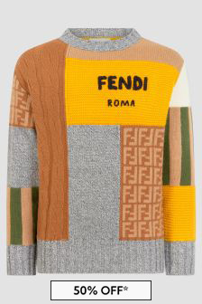 Fendi Kids Multi Jumper