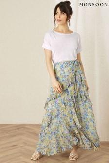 Monsoon Helen Dealtry Louis Floral Wrap Skirt
