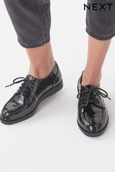 EVA Lace-Up Patent Shoes