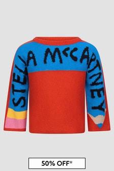 Stella McCartney Kids Girls Red Jumper
