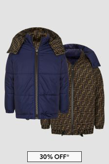 Fendi Kids Navy Jacket