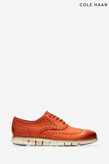 Cole Haan Brown ZEROGRAND Wingtip Oxford Lace Shoes