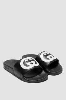 GUCCI Kids Unisex Black Sliders